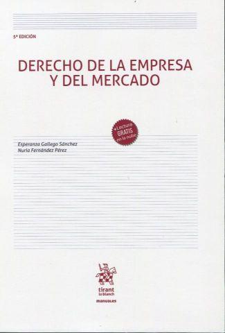 DERECHO DE LA EMPREA Y EL MERCADO  2020 (TIRANT)
