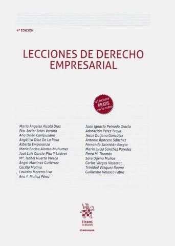 LECCIONES DE DERECHO EMPRESARIAL ED. 2020 (TIRANT)