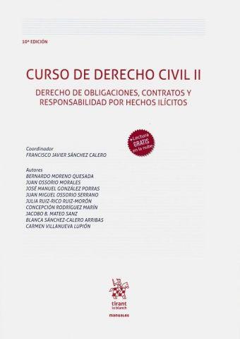 CURSO DE DERECHO CIVIL II.  10 ED.  2020 (TIRANT)