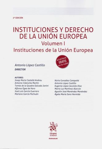 INSTITUCIONES Y DERECHO DE LA UE V1 2020 (TIRANT)