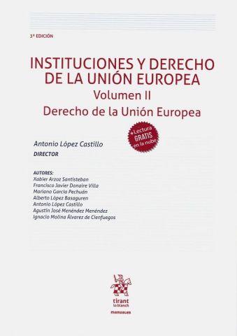 INSTITUCIONES Y DERECHO DE LA UE V2 2020 (TIRANT)