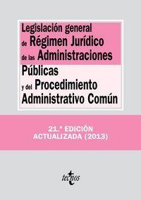 LEGISLACIÓN GENERAL RÉGIMEN JURÍDICO ADM.PÚBLICAS