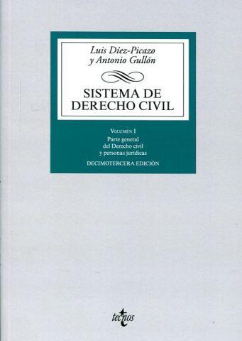 SISTEMA DE DERECHO CIVIL VOL.I PARTE GENERAL 2016