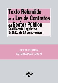 TEXTO REFUNDIDO LEY CONTRATOS SECTOR PUBLICO 2017