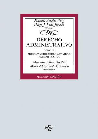 DERECHO ADMINISTRATIVO TOMO III ED. 2019 (TECNOS)