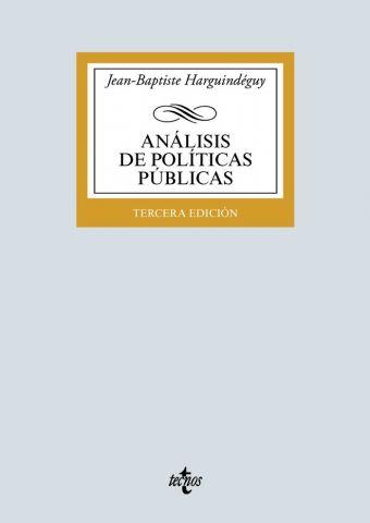 ANÁLISIS DE POLÍTICAS PÚBLICAS ED. 2020 (TECNOS)