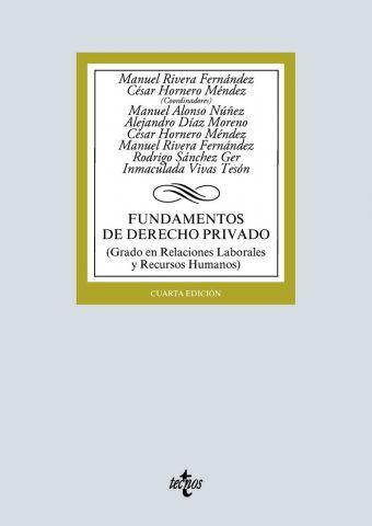 FUNDAMENTOS DE DERECHO PRIVADO ED. 2020 (TECNOS)