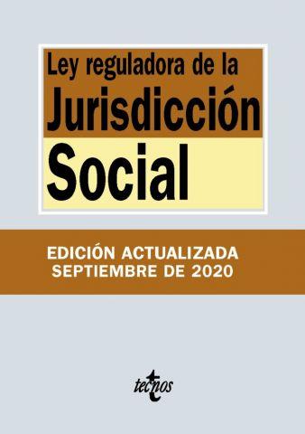 LEY DE LA JURISDICCIÓN SOCIAL ED. 2020 (TECNOS)