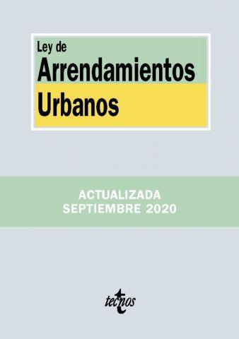 LEY DE ARRENDAMIENTOS URBANOS ED. 2020 (TECNOS)