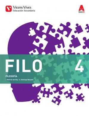 FILOSOFÍA 4º E.S.O. FILO 4. 2017 VICENS VIVES