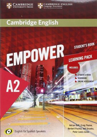 CAMBRIGDE ENGLISH EMPOWER A2 STUDENT'S BOOK AND WB