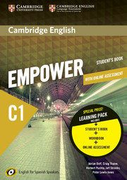 CAMBRIGDE ENGLISH EMPOWER C1 STUDENT'S BOOK AND WB