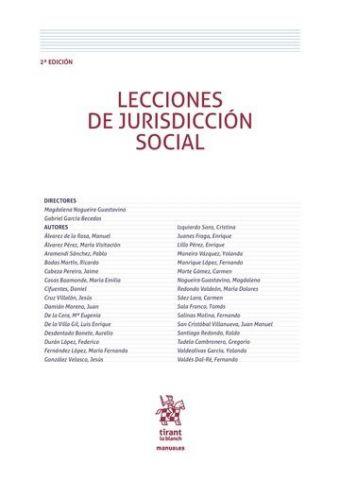 LECCIONES DE JURISDICCIÓN SOCIAL 2016 (TIRANT)