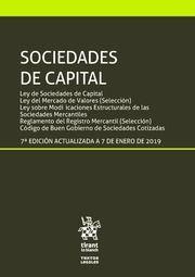 SOCIEDADES DE CAPITAL ED. 2019 (TIRANT)