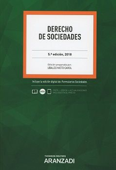 DERECHO DE SOCIEDADES. EDICIÓN 2018