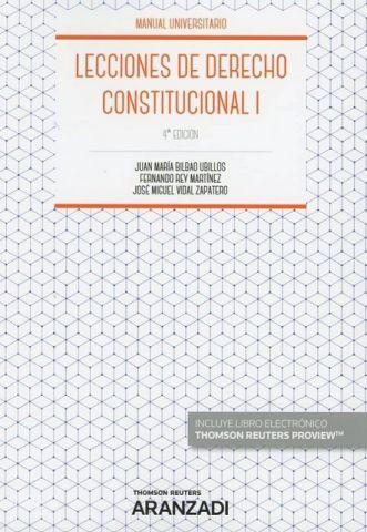 LECCIONES DE DERECHO CONSTITUCIONAL I ED. 2018