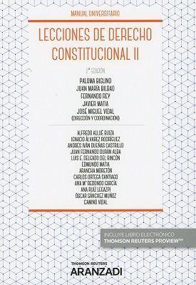 LECCIONES DE DERECHO CONSTITUCIONAL II ED. 2018