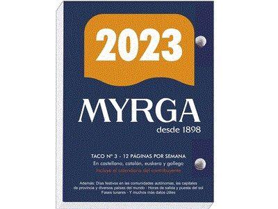 TACO DE SOBREMESA MYRGA 2020 Nº 3 CASTELLANO
