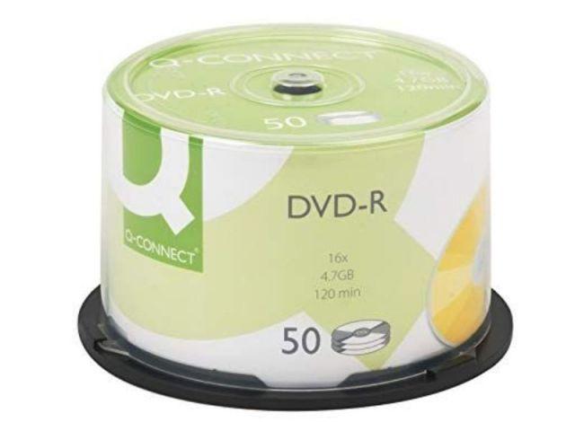 BOBINA 50 DVD-R 4,7GB 120M 16X  Q.CONNECT