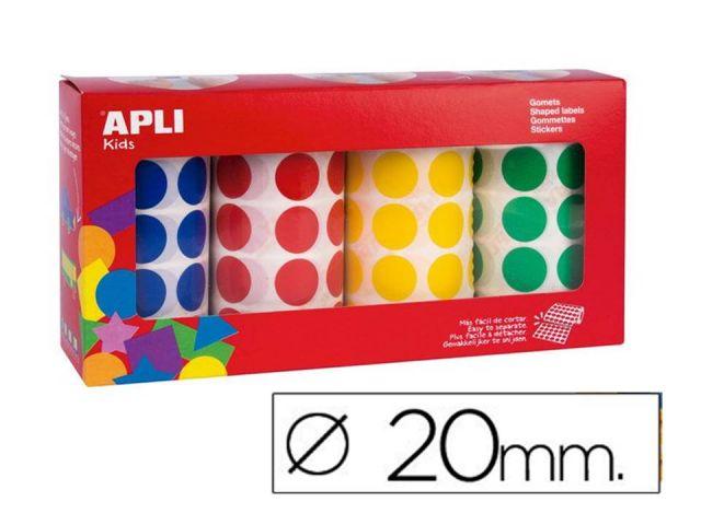 APLI PACK 4 ROLLO GOMETS  REONDOS 20mm