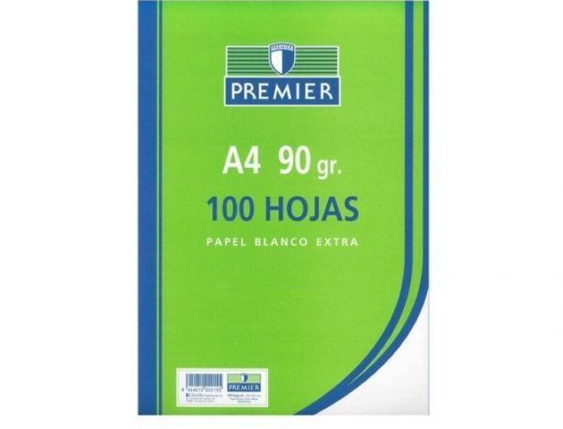 PAQ.100 HOJAS PAPEL A4 90GR. BLANCO EXTRA