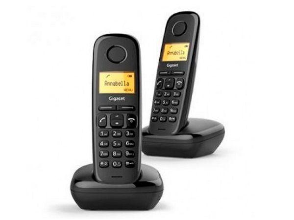 TELEFONO FIJO INALAMBRICO A170 DUO NEGRO GIGASET