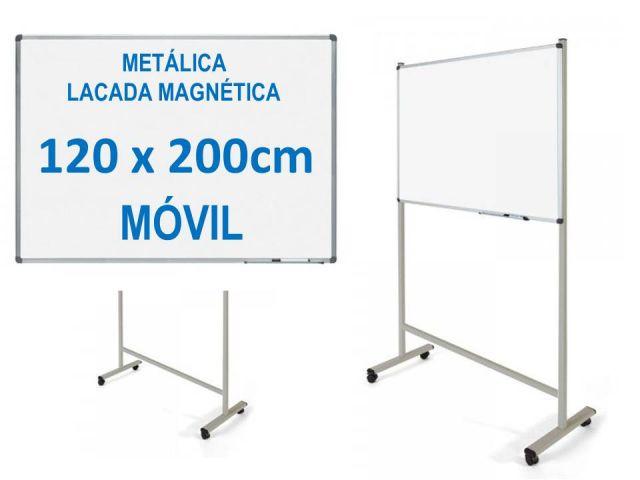 ROCADA PIZARRA BLANCA MAGNÉT.120X200 MOVIL