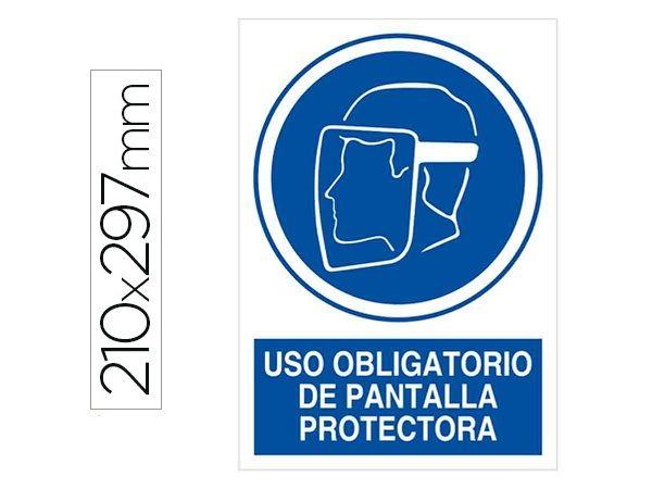 PICTOGRAMA PVC A4 AZ/BL USO OBLIGATORIO PANTALLA P