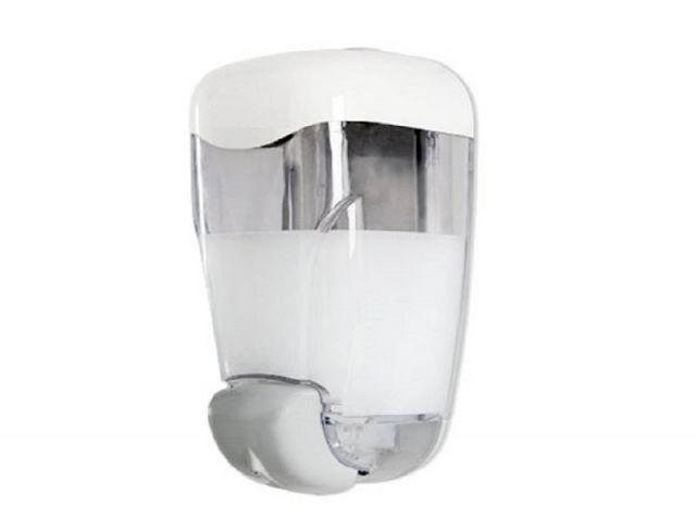 DOSIFICADOR JABON/GEL HIDROALCOL 0,8L ABS BL/TRANS