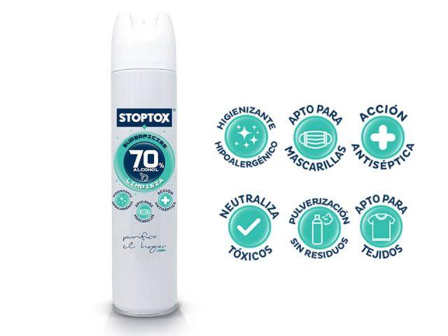 STOPTOX  SPRAY LIMPIADOR HIGIENIZANTE SUPERFICIES