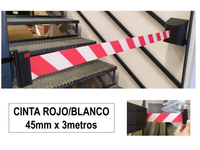 CINTA EXTENSIBLE FIJACION PARED RJ/BL 45mm X 3mt