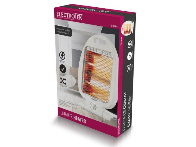 ELECTROTEK ESTUFA DE CUARZO ET-QH01 2 POS.