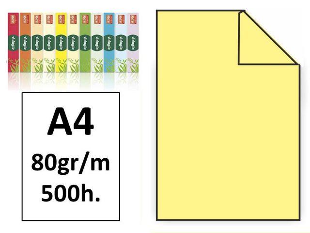 PAQ.500H. PAPEL COLOR MULTIFUNCIÓN A4 80GR AMARILL
