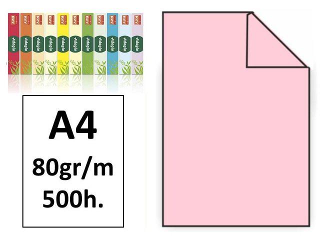 PAQ.500H. PAPEL COLOR MULTIFUNCIÓN A4 80GR ROSA